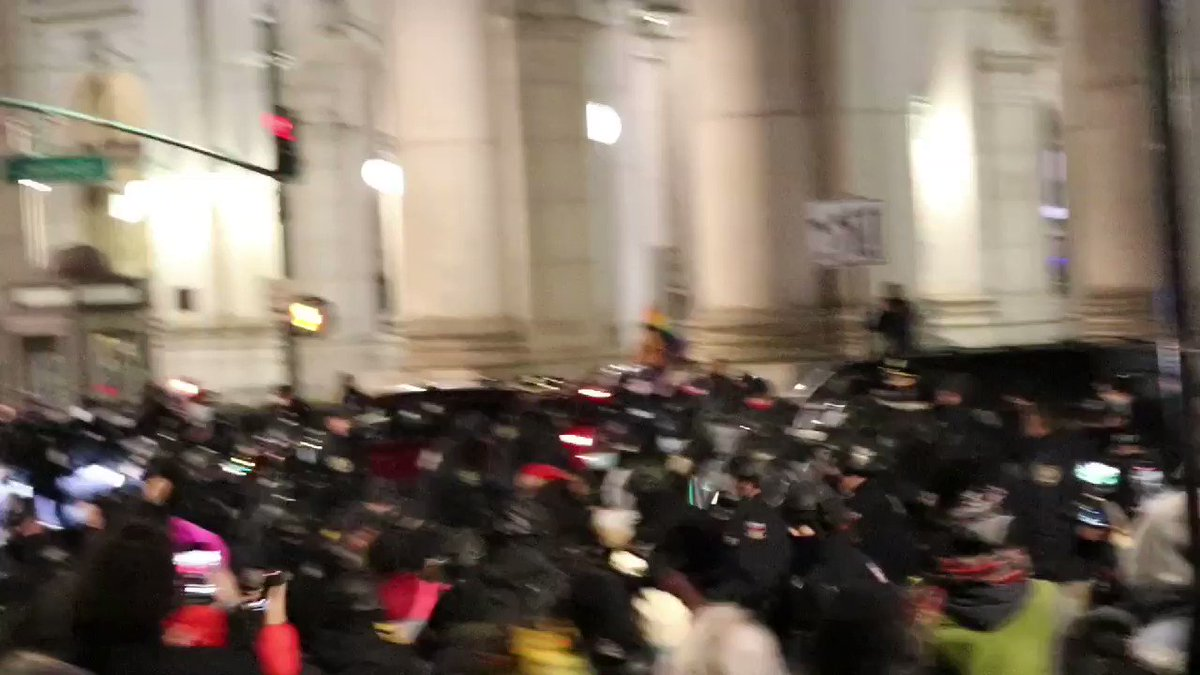 Cops beating protestors in New York last night on MLK Day. Where was this energy from the cops at the insurrection?