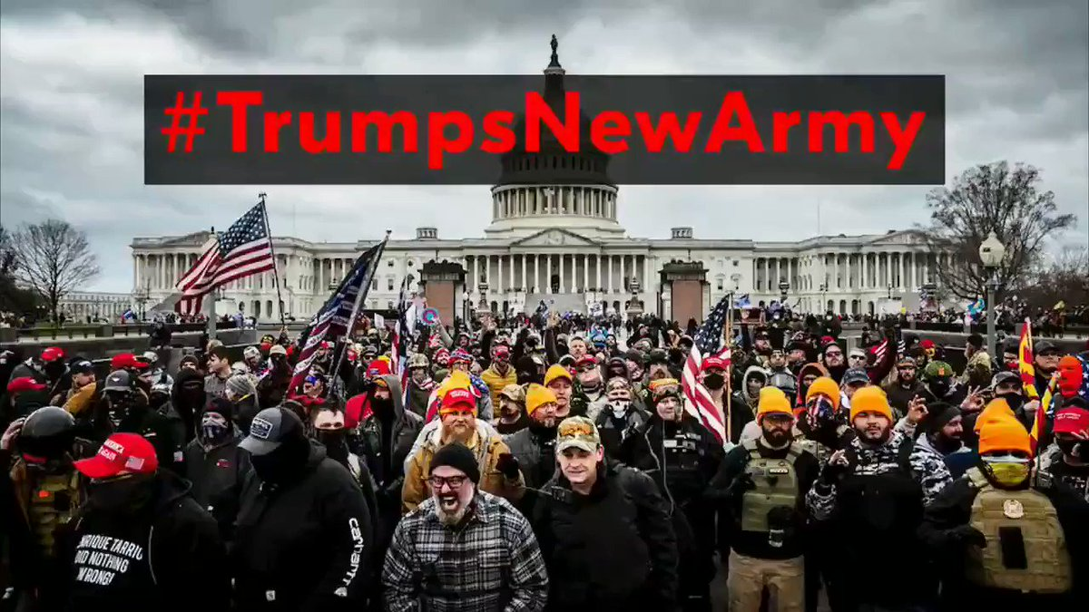 NEW VIDEO  #TrumpsNewArmy    VOLUME UP    On January 20th Donald Trump will no longer be The Commander in Chief.   He will lose control of the U.S. Armed Forces and take control of a NEW ARMY. https://t.co/XFwCJ4LeGq