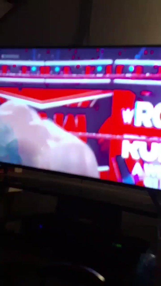 @AJStylesOrg w/ OMOS vs @KingRicochet #WWERaw