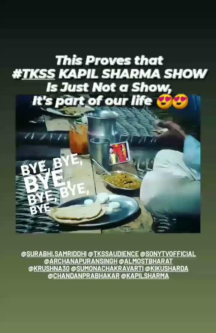 @KapilSharmaK9 @RajBabbarMP @GurpreetGhuggi @ihanaofficial #tkss KAPIL SHARMA SHOW is just not a show It's Part of our life 😍😍 @KapilSharmaK9 @haanjichandan @kikusharda @sumona24 @apshaha @almostbharat @Krushna_KAS 👇👇 Please reply if you see this 🥺🥺♥️
