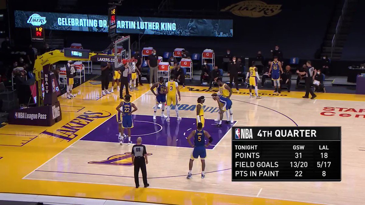 Between the legs. Behind the back. Step-back 3. Na cara de Anthony Davis. Com 35 minutos nas pernas.  Splash 💦  #NBA #DubNation