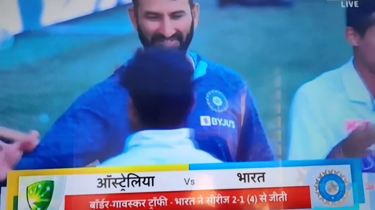 Brock @RishabhPant17 Well done. You are real hero...4th test match, India win by 3 wickets.. #BorderGavaskarTrophy @BCCI  ...  #AUSvsIND India win the series  2-1