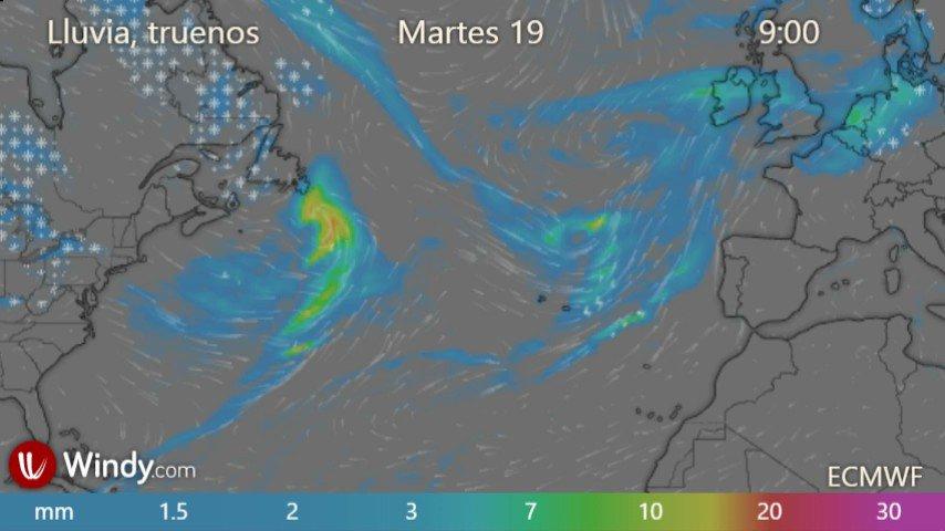 Modelo previsión #Windy #Lluvias #Rains  De #Martes #19Enero a #Viernes #22Enero   Que luego no pille de sorpresa #Gaetan