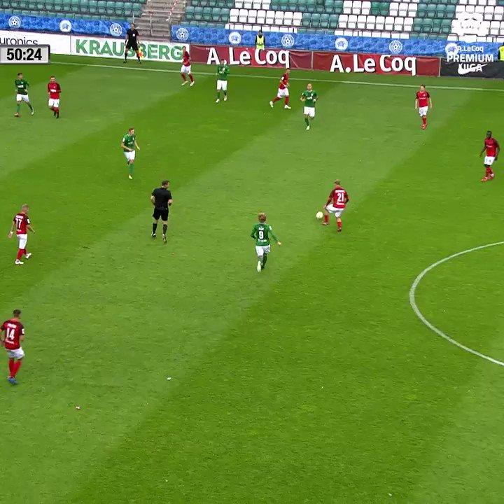 Scramble, fake and shot! 🎯  Viktor Plotnikov (@jknarvatrans) dances his way through defense and fires into bottom corner!   #GoalOfTheDay