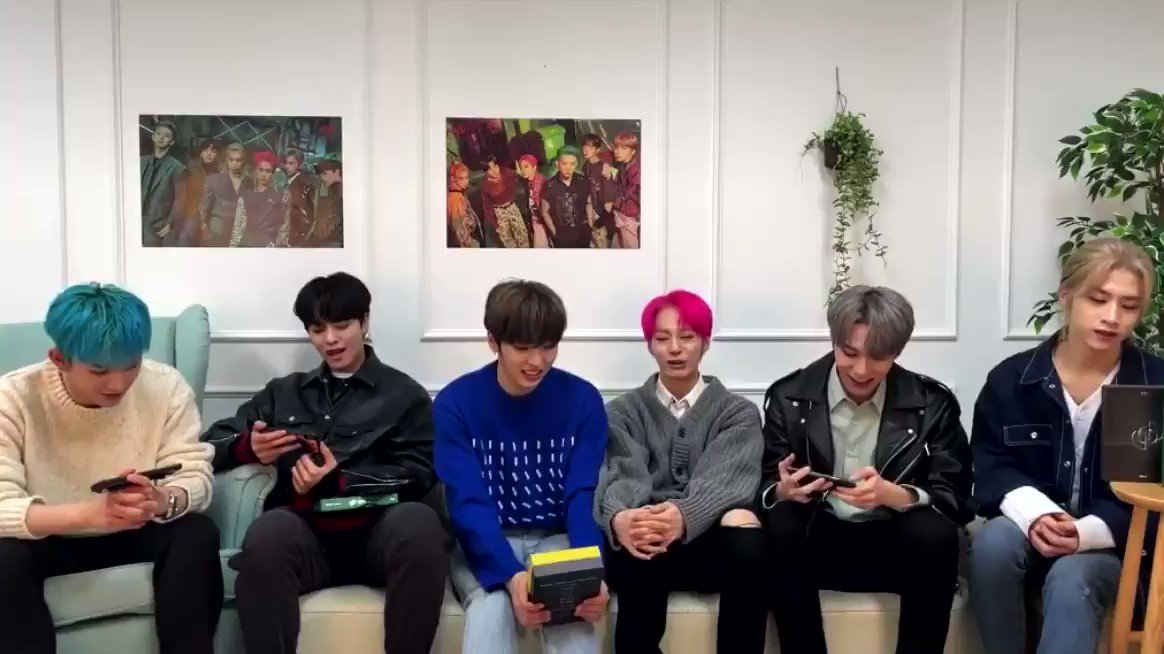 210119 #ONEUS VLIVE 🐰:we wanted to tell so badly 🐯:our hair were set, we had makeup on + in our costumes inside the car. we wanted to suddenly turn on the camera for a moment 🐻:if we did turn it on, we'd be in trouble  #ONEUS_DEVIL_NoDiggity #원어스_데빌_그누구도_반박불가