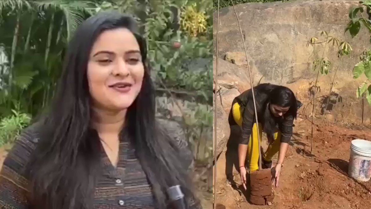 Thank you #Rohini garu for accepting the nomination & planting the saplings under #GreenIndiaChallenge. Also thanks for nominating your  co-stars.  #GIC🌱🌱🌱