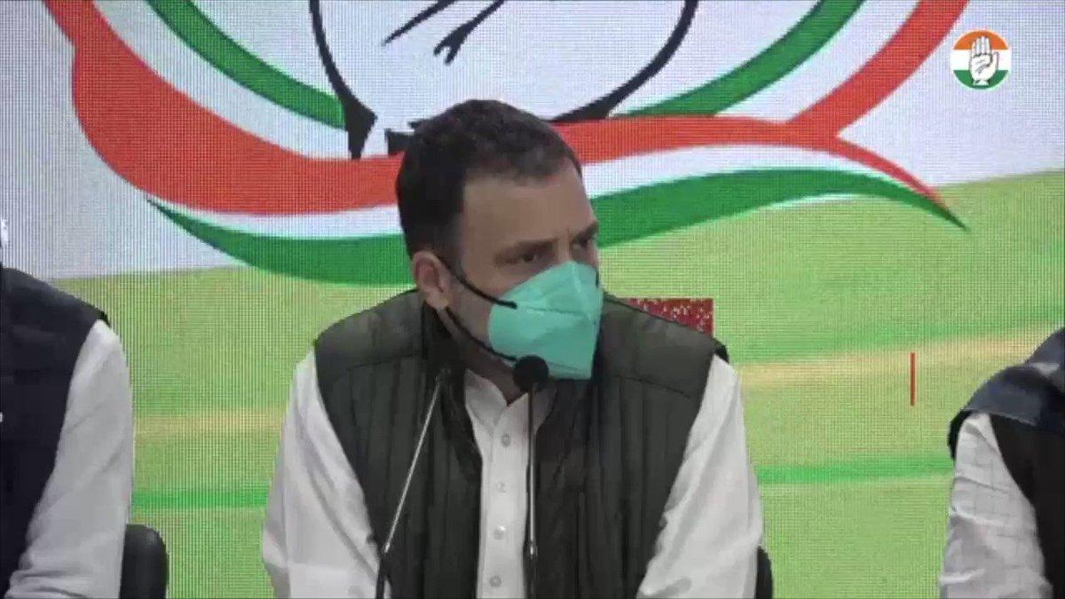 एक बार फिर @RahulGandhi जी केंद्र सरकार से किसानों की चिंताओं को दूर करने की अपील कर रहे हैं।  मैंने पंजाब या शेष भारत के एक भी गैर-कांग्रेसी राजनेता को किसानों की चिंताओं का प्रतिनिधित्व करते नहीं देखा।