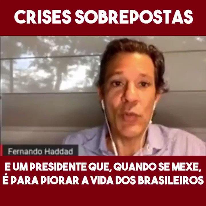 Fernando Haddad era a pessoa mais preparada para assumir o Brasil na última disputa presidencial. Mas aqui estamos, na pior crise que o país já enfrentou, com um presidente que sabota a vida dos brasileiros. O Brasil precisa acordar. #forabolsonaro