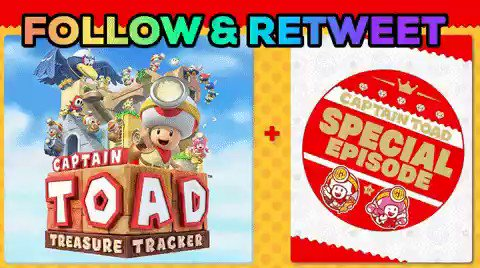 *** FREE GAME GIVEAWAY ***  Follow DManoSG & retweet for a CHANCE to win a FREE digital download code for Captain Toad: Treasure Tracker + Special Episode DLC for the Nintendo Switch. Winner will be announced tomorrow around 12pm - 1pm EST