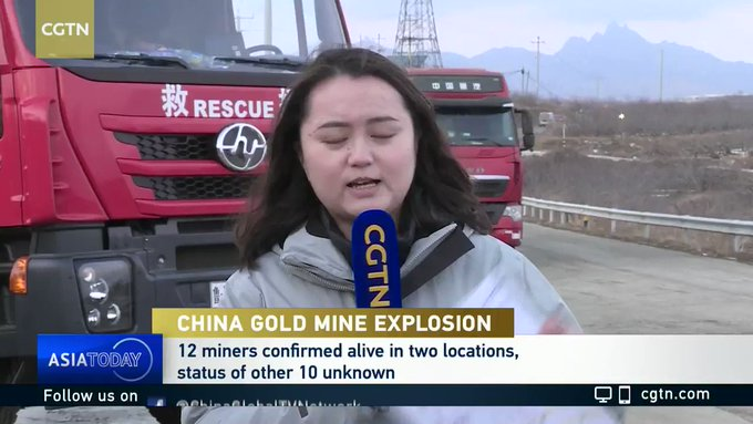 Rescue crews work to save trapped gold miners in China Photo
