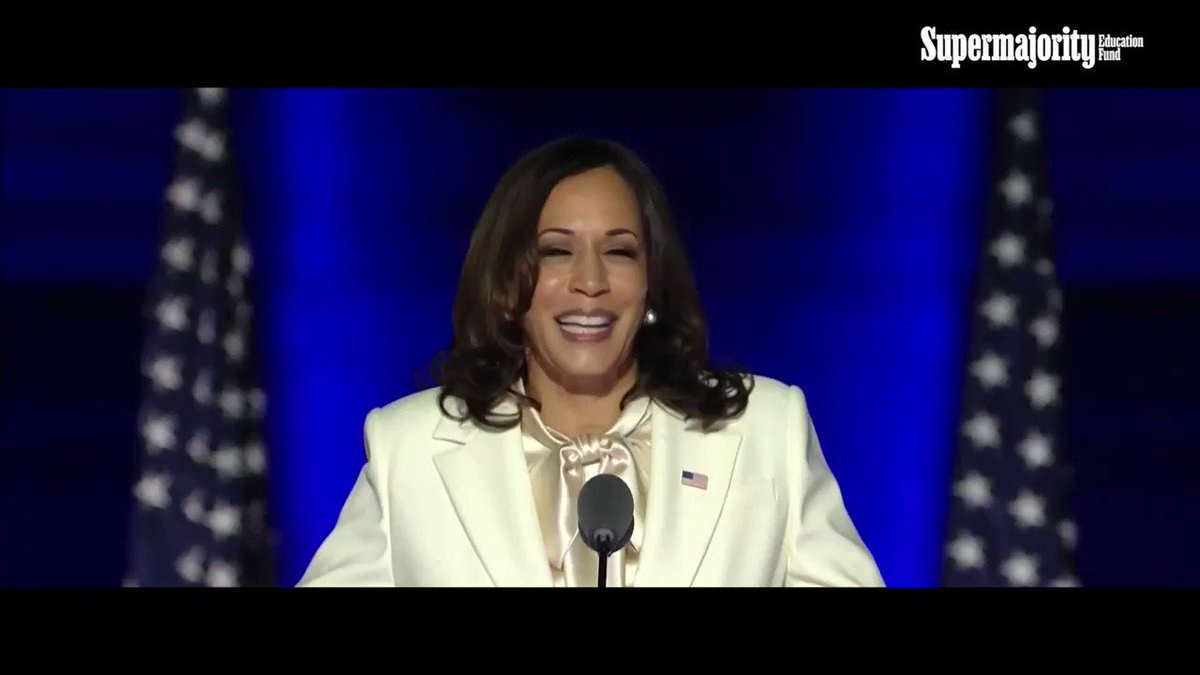 💫 1 more day until Madam VP!   @Supermajority Education Fund teamed up with @phenomenalwoman to celebrate @KamalaHarris' historic inauguration in this new video shouting out our collective power and some of the women who helped get us get here.    #TheFirstButNotTheLast ⬇️