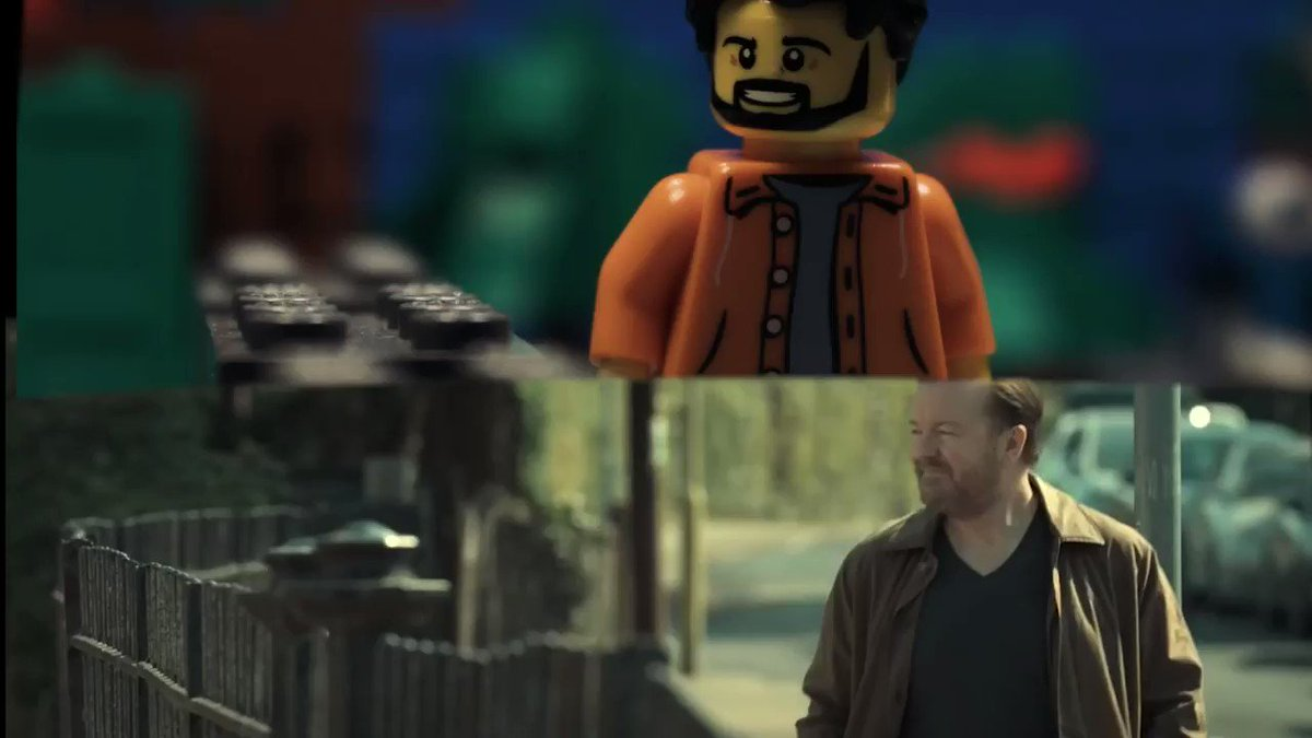 I finally got around to re-making my favourite scene from @NetflixUK's  #AfterLife2  series by @rickygervais in LEGO.  Cheers for this series man x