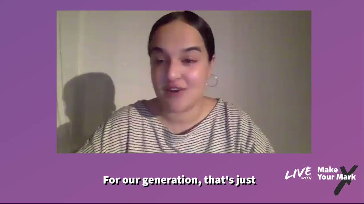 """""""Because the alternative is precarious housing accompanied, of course, by previous work."""" @nadiawhittomemp remarks on the instability of young people's lives. Watch the full LIVE with #MakeYourMark debate here: bit.ly/372RmKO #youthvoice #freeuniversity #education"""