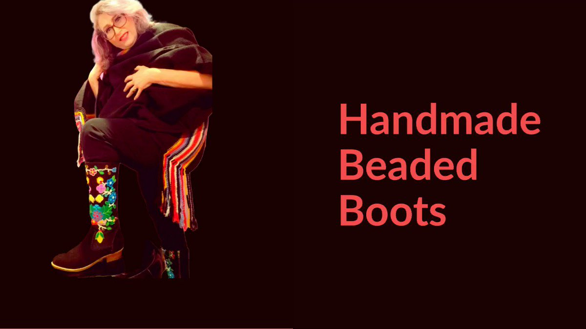The most beautiful boots I have ever seen!  Handmade Beaded 100% Leather Boots  To order:   #indigenouscompany #nativetwitter #flowerbeadwork #handmade #shopindigenous #notamazon #yycindigenousstore #shoplocalyyc