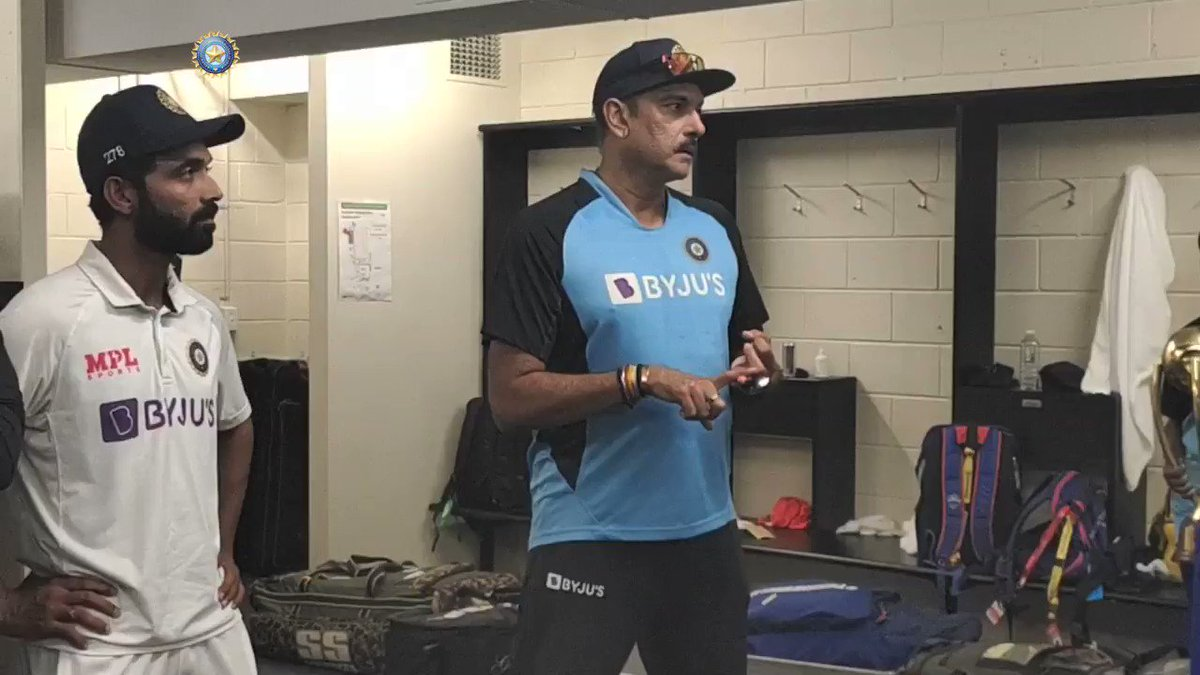 WATCH - Exclusive: Head Coach @RaviShastriOfc delivers a dressing room speech at Gabba.  A special series win in Australia calls for a special speech from the Head Coach. Do not miss!  Full 📽️📽️ #TeamIndia
