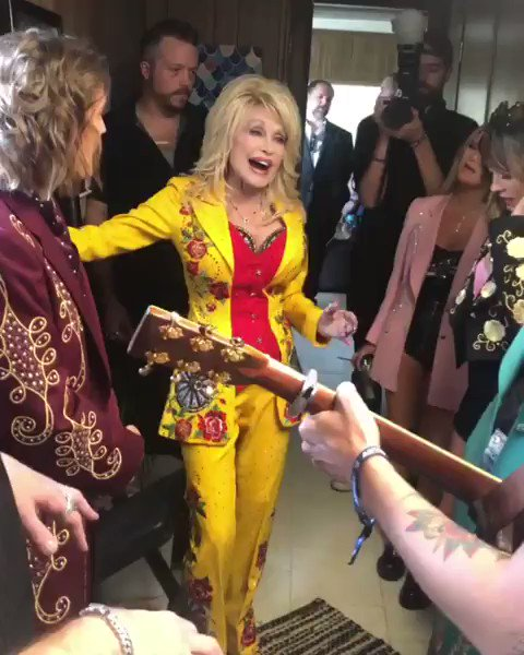 will never be over her pulling me in. Happy birthday, @DollyParton ✨💛