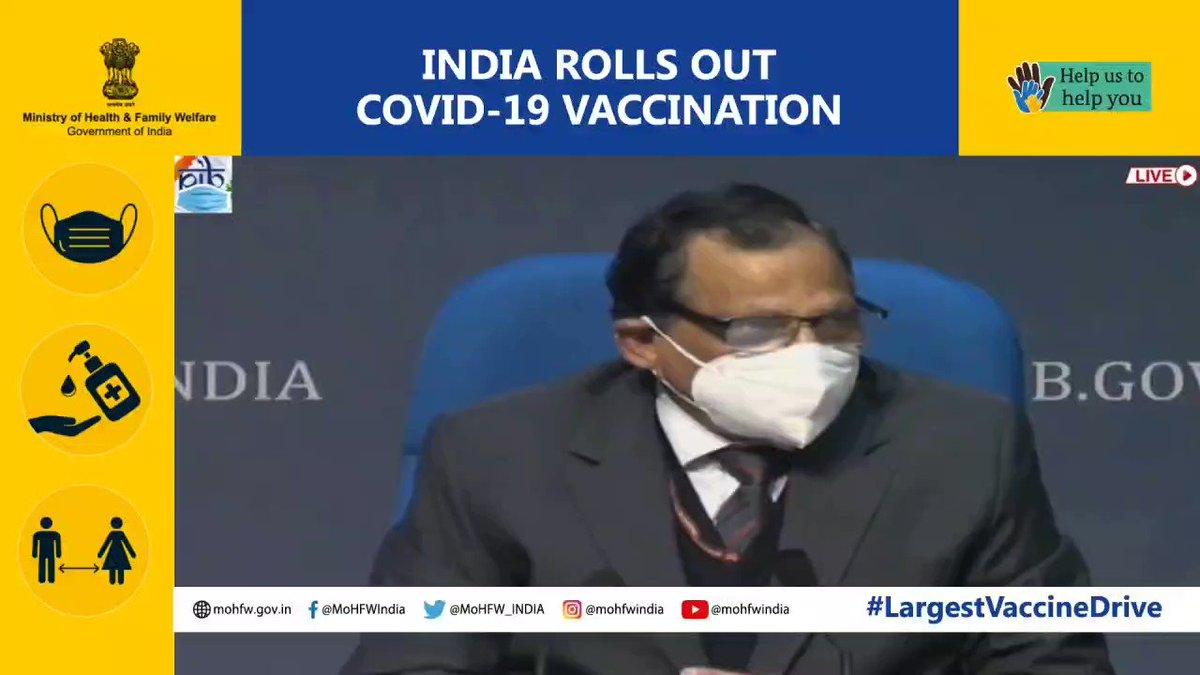 """""""Vaccine hesitancy has to extinguish before the #COVID pandemic extinguishes."""" - Dr. V. K. Paul @NITIAayog   #LargestVaccineDrive #United2FightCorona    @PMOIndia @drharshvardhan @AshwiniKChoubey @PIB_India @COVIDNewsByMIB @mygovindia @CovidIndiaSeva"""