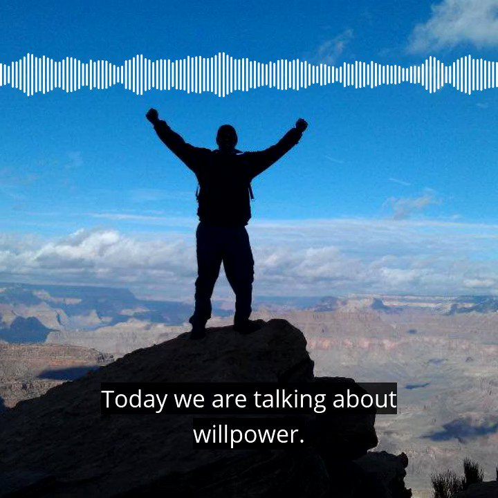 How strong is your willpower?  Listen to the rest at    #willpower #personaldevelopment #podcast #podcastrecommendation #motivation #growthmindset #tuesdaymotivations