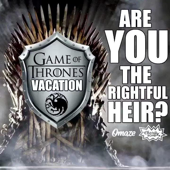 """You could be the rightful heir of a @GameOfThrones inspired vacation, where you will explore """"Westeros"""" on a tour of #Ireland's fantastic castles and filming locations.   For details on how to ENTER TO WIN,  Click👉  #GivingTuesday #SuicidePrevention @omaze"""