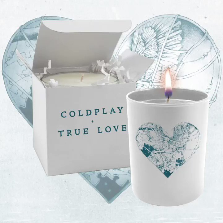💙 True Love candle available to order now from the Coldplay Store. A  💙
