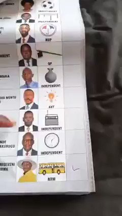 This particular video was sent to us by a member of the UPDF who was disgusted by what they were commanded to do! He told us they spent days pre-ticking ballot papers in favor of Museveni because they knew there was no way they could beat us in a free contest! 1/2