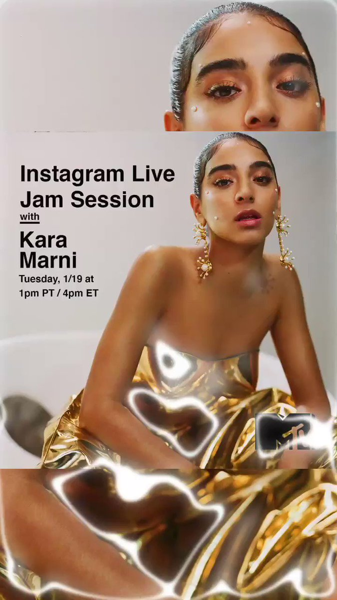 Gonna be singing a couple songs over on @mtv 's IG live tonight - 9pm GMT come join & bring  snaxxx 🤍✨🪐