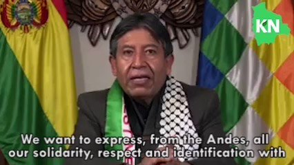 Israels zionist regime must be brought to trial for its crimes against civilians, women and children, says Bolivias Vicepresident @LaramaDavid