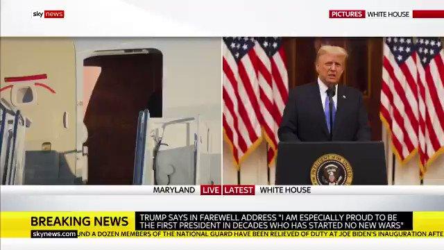 🎥  ترامپ: افتخار میکنم که پس از چندین دهه، اولین رئیسجمهوری هستم که هیچ جنگی را آغاز نکرده است  #ByeByeTrump