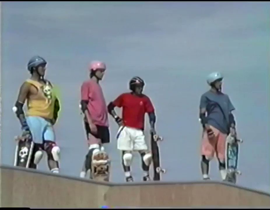 """Recently found a VHS tape from when my dad brought his videocamera to our first day of shooting Search For Animal Chin in 1987. The tape was labeled """"Bones Brigade at Dream Ramp"""" and sat forgotten for decades. Here is 1 minute of footage, including tricks that didn't make the cut"""