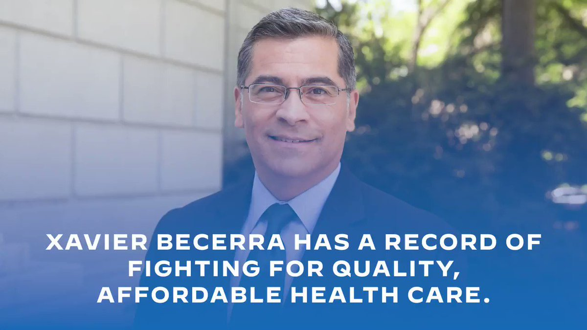 Xavier Becerra has the experience we need at HHS. He has spent his career fighting for quality, affordable health care. As Secretary of Health and Human Services, he will continue his work to lower health care costs and expand access for all Americans.