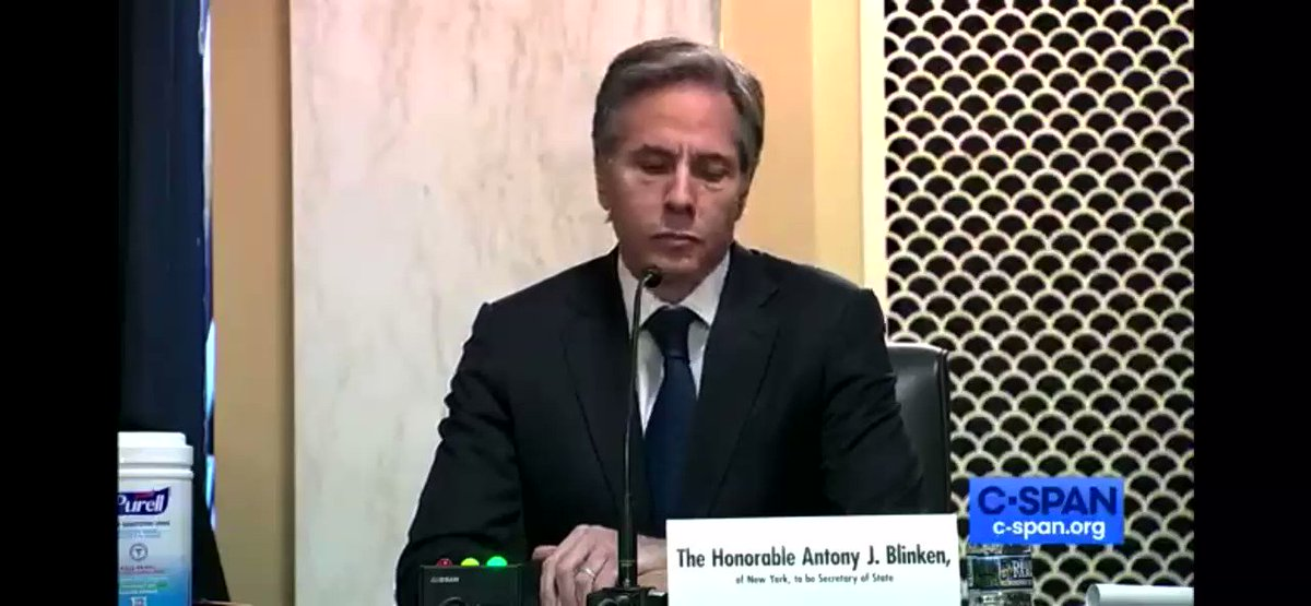 """Important turning point for ghastly #YemenWar:  @ABlinken to @ChrisMurphyCT:  """"The President-elect has made clear that we will end our support for the military campaign led by Saudi Arabia in Yemen, and I think we will work on that in very short order."""""""