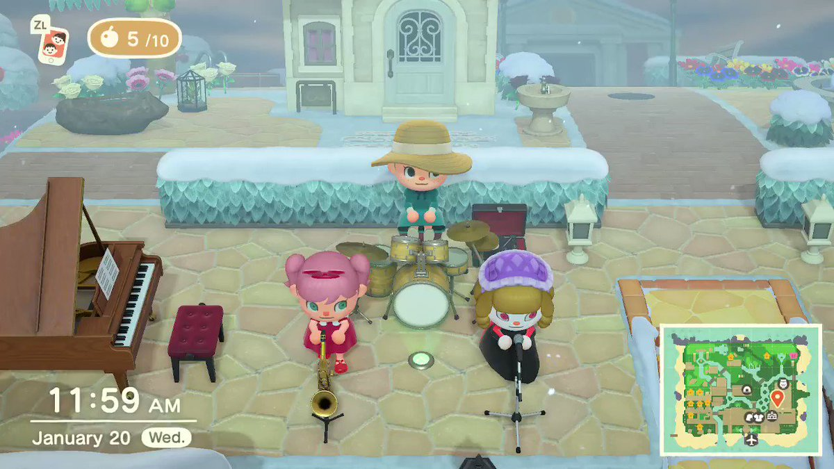 my little sisters and i started a band....we are really bad #AnimalCrossing #ACNH #NintendoSwitch