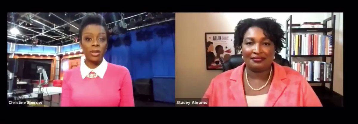 WATCH: One-on-one today with @staceyabrams spoke right to this after I asked if she will run for governor again - or will there be a greater need for her to continue advocating for equal voting rights. #soundup ⤵️ @FOX5Atlanta #gapol @fairfightaction