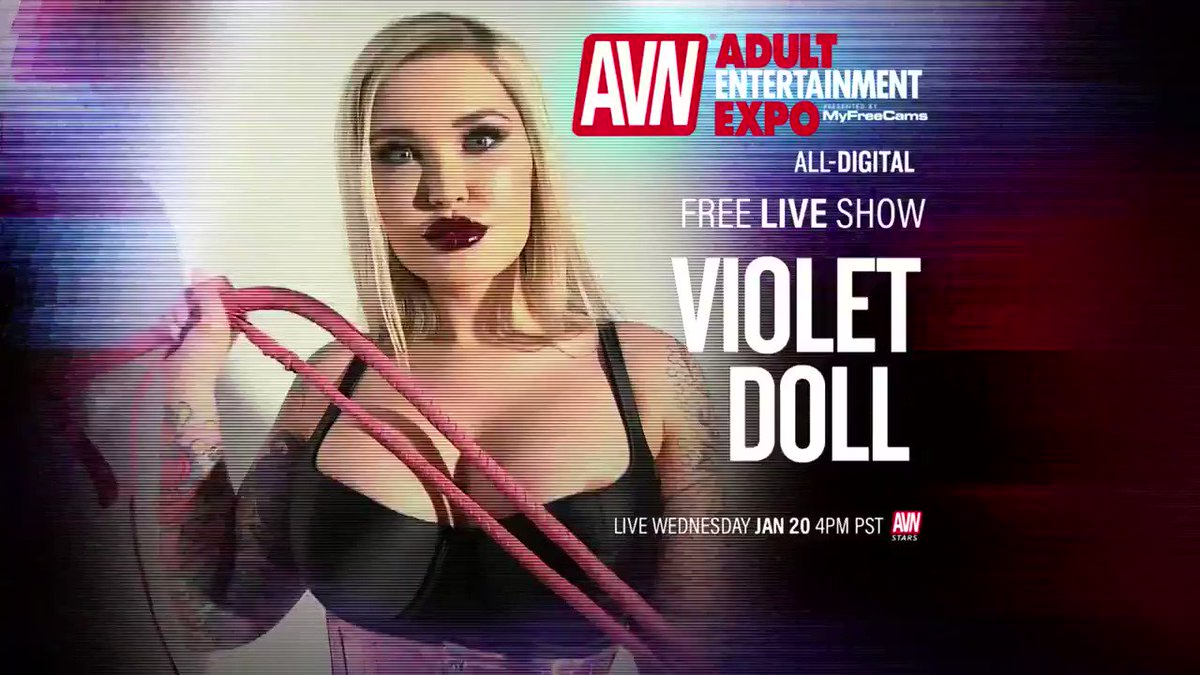The Virtual #AVNShow is going right now with @VioletDoll on #AVNStars you dont want to miss this! stars.avn.com/violetdoll/live