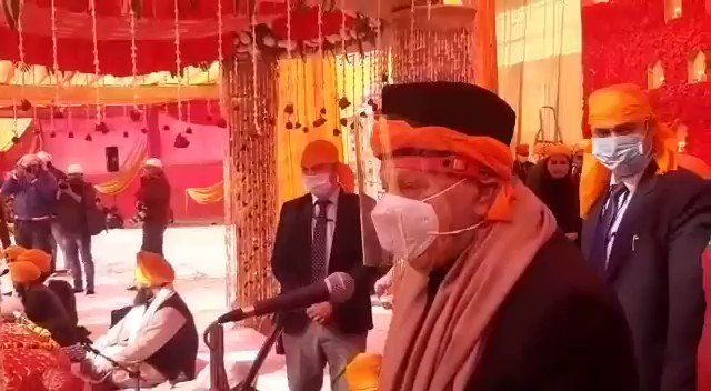 Watch* @KNSKashmir Jammu Dr Farooq Abdullah participates in Gurupurab Celebrations in Jammu,  #KNS correspondent