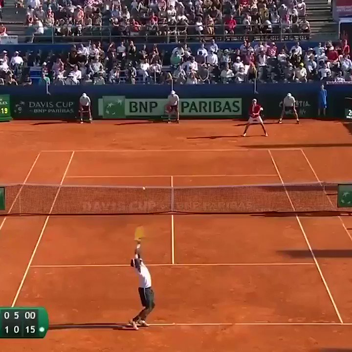 """""""Exquisite!"""" 🗣  Celebrate @FTiafoe turning 23 by watching this incredible rally and winner from his 2018 semi-final meeting with Borna Coric 🔥  #DavisCup"""