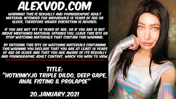 Warning This tweet contains porn & is adults only!  Triple anal with @hankeystoys dildo at AlexVod: https://t