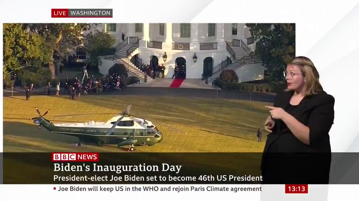 Donald Trump leaves the White House for the final time after four tumultuous years as 45th US president