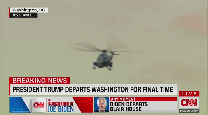 "CNN's @wolfblitzer: ""It's going to be a little, pathetic, tiny crowd at Joint Base Andrews where he'll say good-bye."" https://t.co/ycVS2NSUxB"