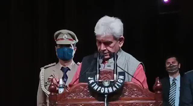 Watch #KNS Jammu Manoj Sinha(L.G) addresses Media at Convention hall, Jammu @OfficeOfLGJandK  @manojsinha_  @diprjk , @kansalrohit69  @KNSKashmir