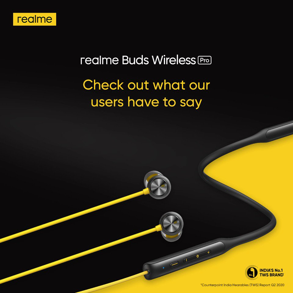 Looks like our users have turned the #NoiseOffMusicOn, what about you? Get your hands on the smart and stylish #realmeBudsWirelessPro today!  Available on  and @amazonIN. Buy now:
