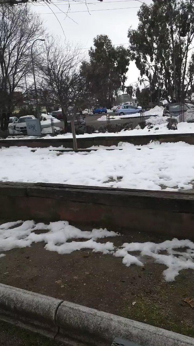 Esperando las lluvias para limpiar la nieve #Leganes #MadridNevado #madridnieve