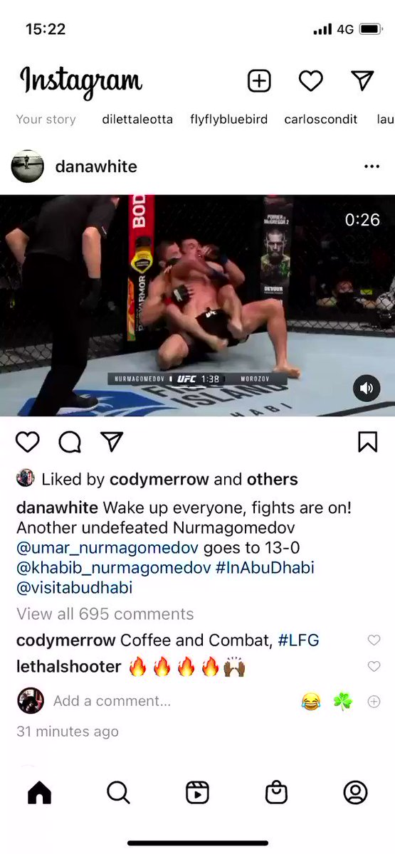 A new #Nurmagomedov has arrived 13-0 . Job done for the #Khabib team . Flying to vegas next. #UFCFightIsland8 @ufc #UFC #UFCFightIsland   LIVE NOEW #Ireland #UK @btsportufc #BTSPORT