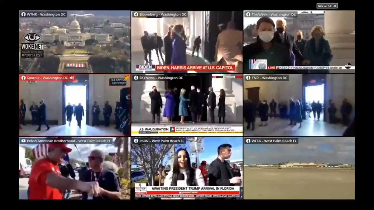 LIVE shots of Joe Biden and Kamala Harris arriving to attend the inauguration   #KamalaHarris #JoeBiden #TrumpsLastDay   #Inauguration2021 #Inauguration 📣🔊  #LIVE #LiveStream #NEWS   The feeds are aggregated on    The feed highlighted in RED has the audio