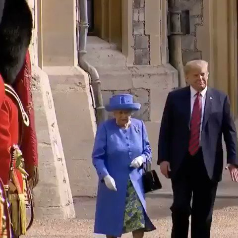 When #Trump Meets #Queen    😂😂 Some of My Fav moments of #DonaldTrump Will surely Miss Him 😭  #ByeDon #ByeByeTrump #TrumpsLastDay #InaugurationDay #Inauguration2021