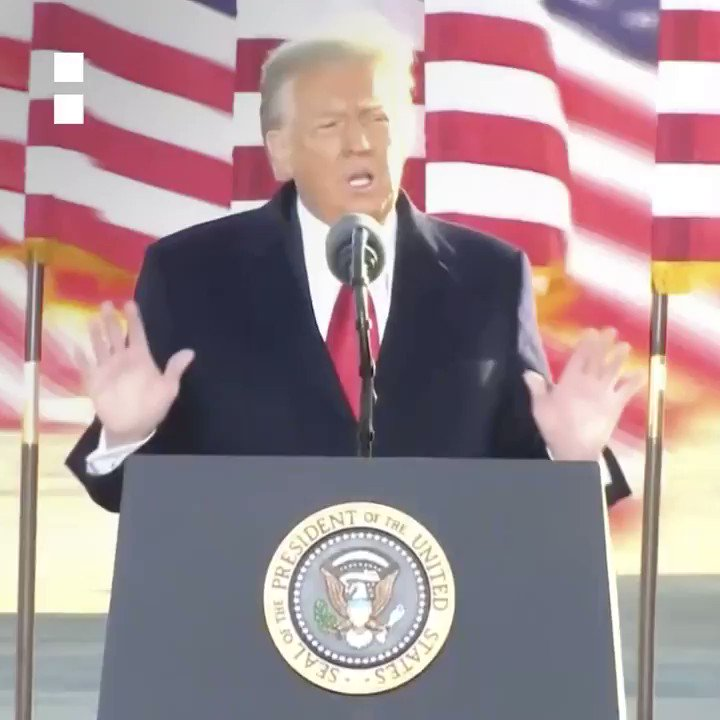 """#DonaldTrump #InaugurationDay #TrumpsLastDay """"We will be back in some form.""""  Outgoing US President Donald Trump gave a final speech during a sendoff event in Maryland.  Latest #InaugurationDay updates:"""