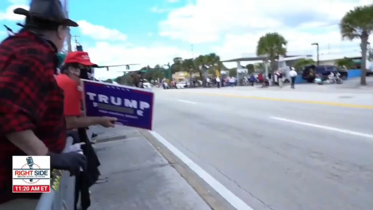 President Donald Trump arrives in Florida