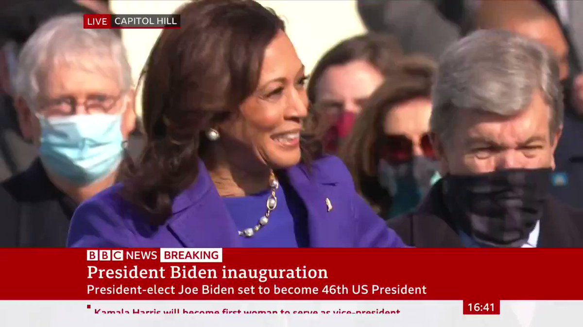 Kamala Harris sworn in by Supreme Court Justice Sonia Sotomayor, becoming the 49th Vice President of the United States