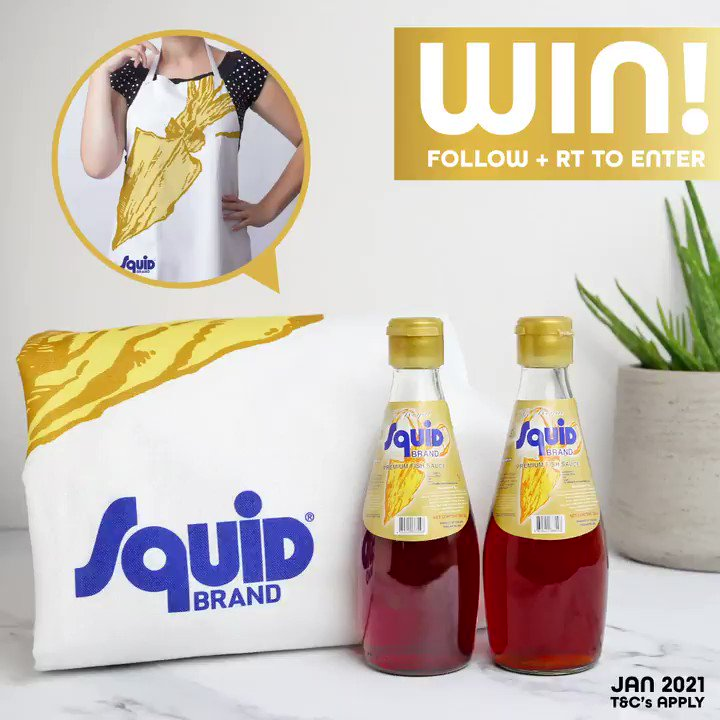 Looking to add some delicious umami flavours to your meals this year? Then this is the #competition for you...  FOLLOW & RT for your chance to #WIN this snazzy Squid Brand apron, and two bottles of our gold labelled Premium Fish Sauce 🐟🏅  #WinItWednesday