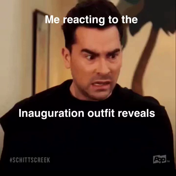 Happy #InaugurationDay ! We did it y'all! A black woman is in the White House and she looks GOOD! And her step daughter. And @MichelleObama . Idk everyone looks amazing.  @KamalaHarris @PopTV @SchittsCreek